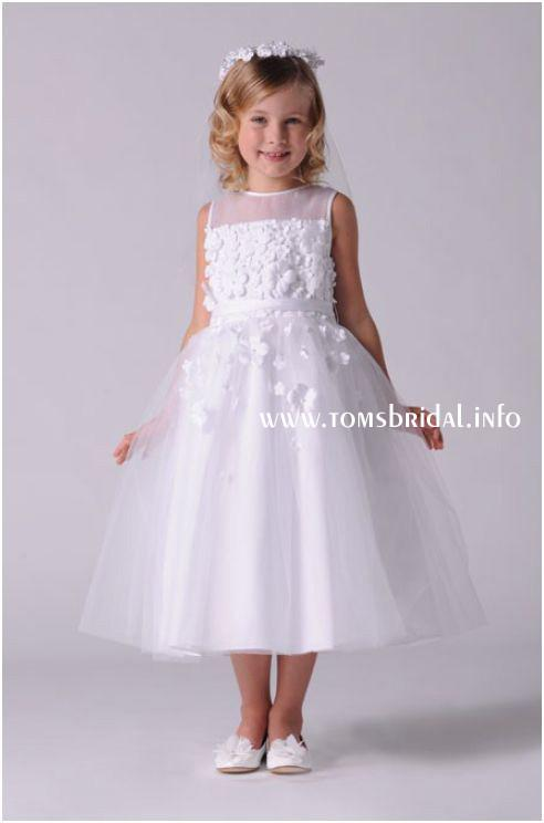 US Angels 301 498 White size 8 In Stock First Communion Dress - Tom's Bridal