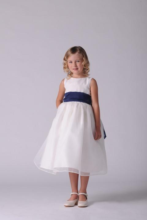 US Angels 409 Ivory/Burnt Orange size 4 In Stock Flower Girl Dress - Tom's Bridal