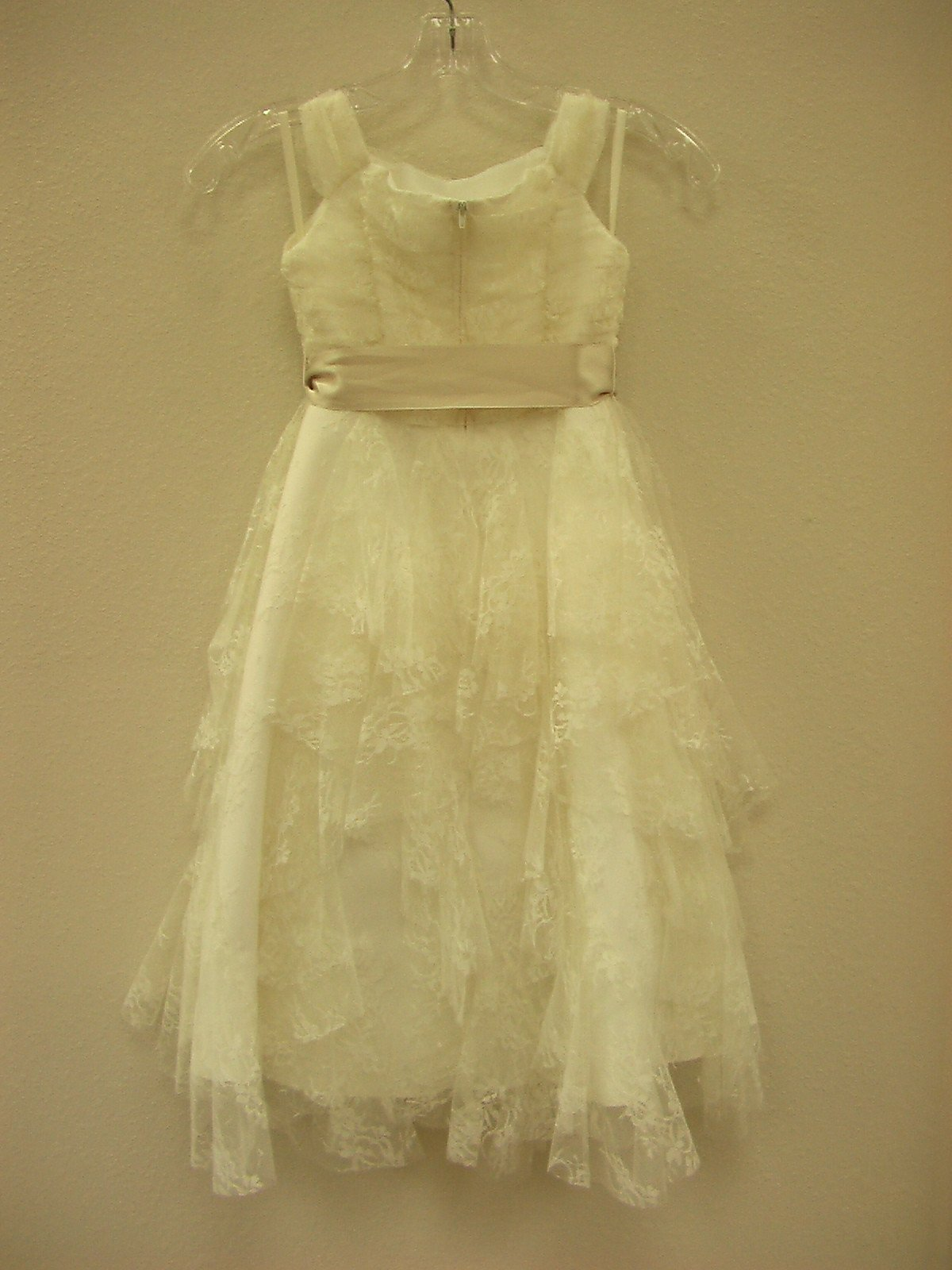 US Angels 821 Ivory/Champagne size 5 In Stock Flower Girl Dress - Tom's Bridal