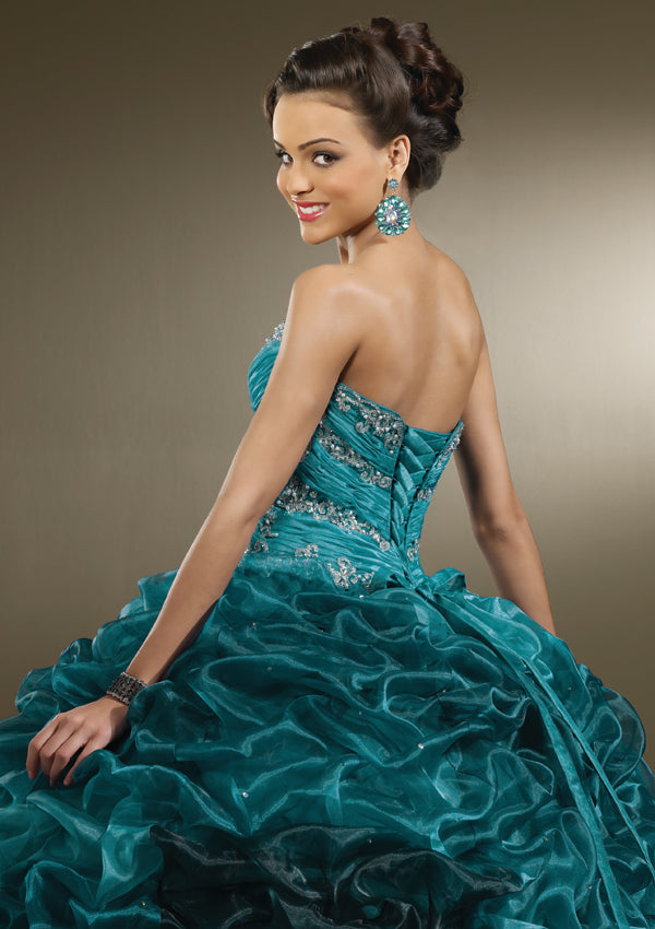 Vizcaya 87081 Teal size 10 In Stock Quinceanera Dress - Tom's Bridal