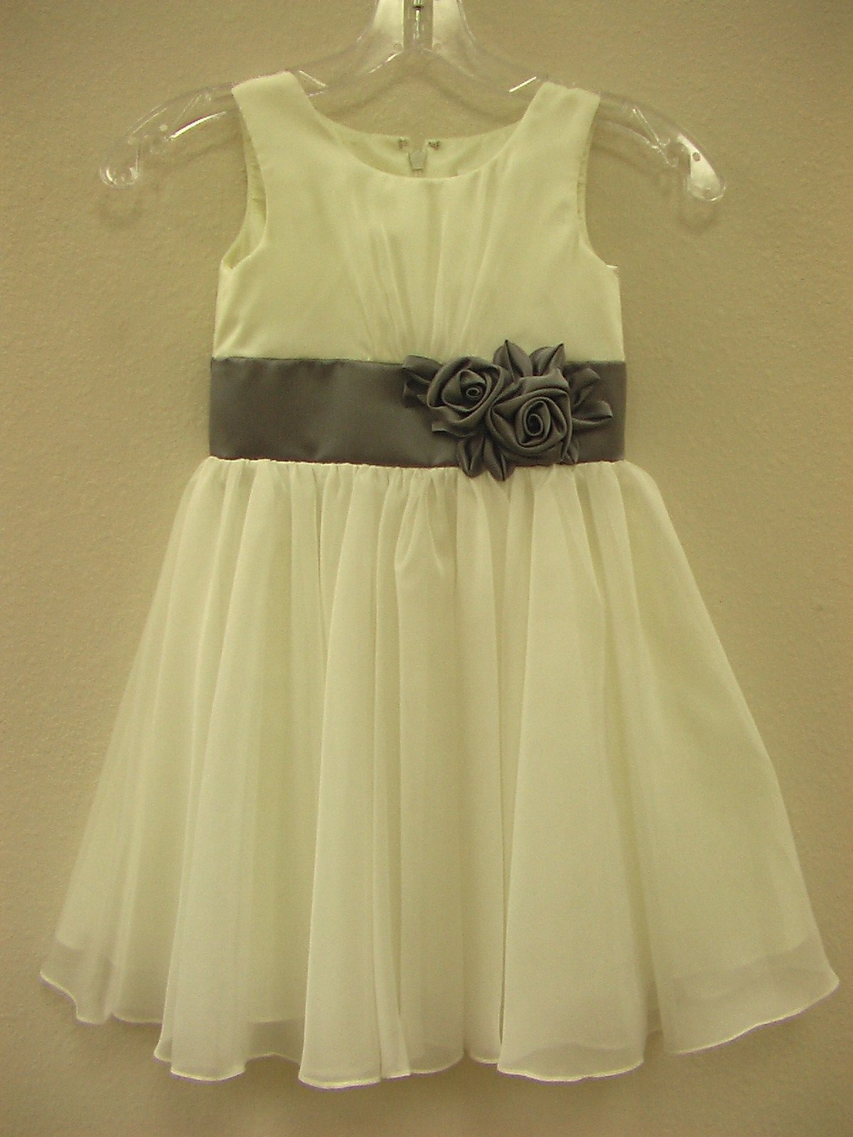 Watters 41163 Ivory/Marcasite size 4 In Stock Flower Girl Dress - Tom's Bridal