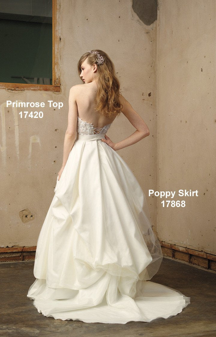 Wtoo 17868 Poppy Ivory size 10 In Stock Wedding Dress Skirt Only - Tom's Bridal