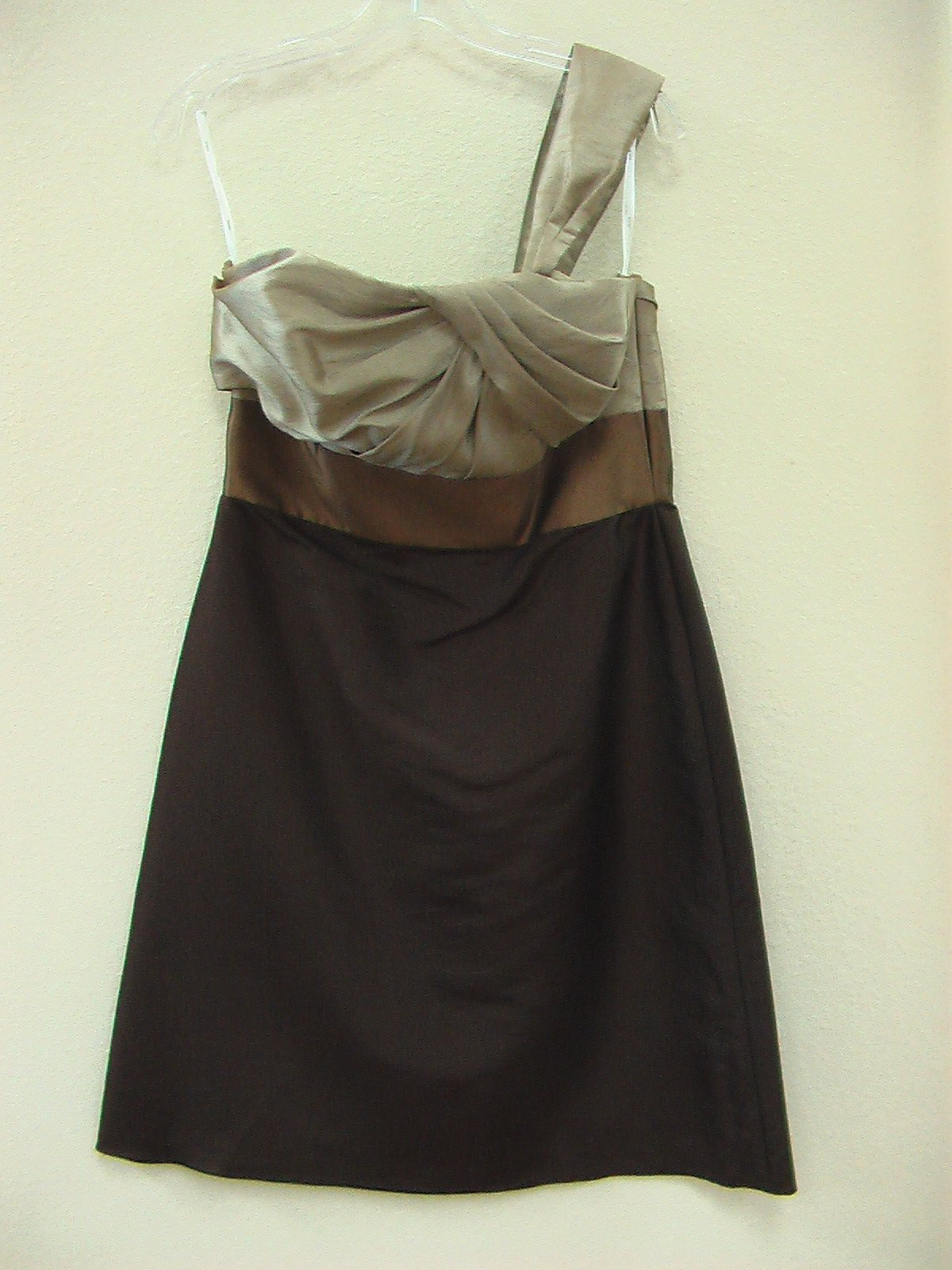 Wtoo 876 Toast/Nutella/Chocolate Size 10 In Stock Bridesmaid Dress - Tom's Bridal