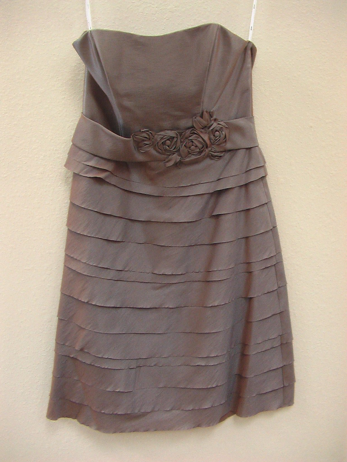 Wtoo 877 Slate Blue Size 10 In Stock Bridesmaid Dress - Tom's Bridal