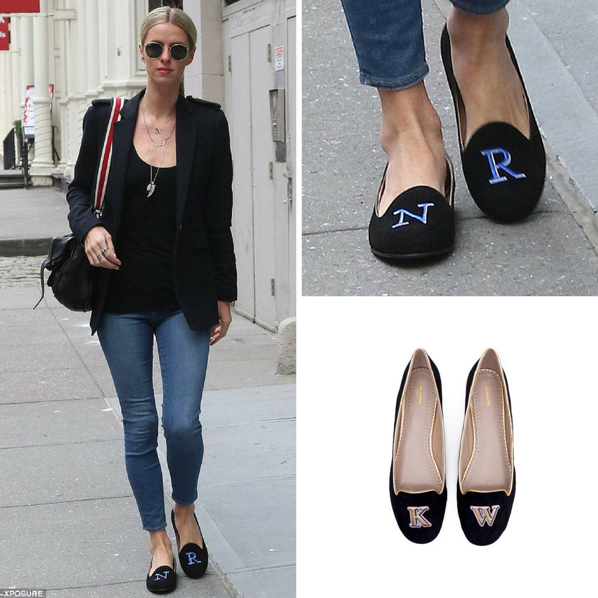 Nicky Hilton Rothschild Wearing Monogram Shoes | Glosserie