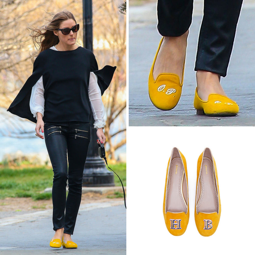 Olivia Palermo Wearing Monogram Shoes | Glosserie