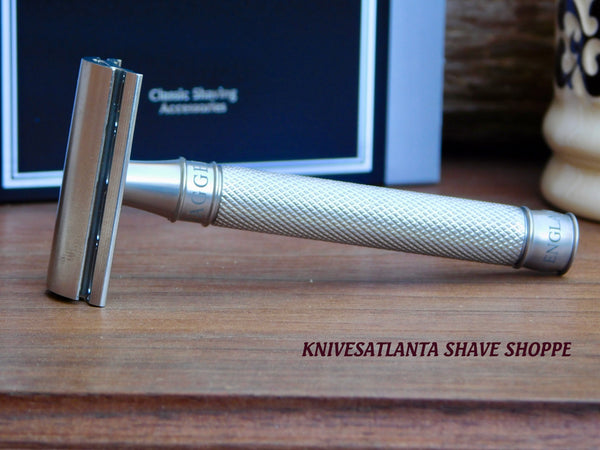 Edwin Jagger 3ONE6 Stainless Steel Knurled DE Safety Razor