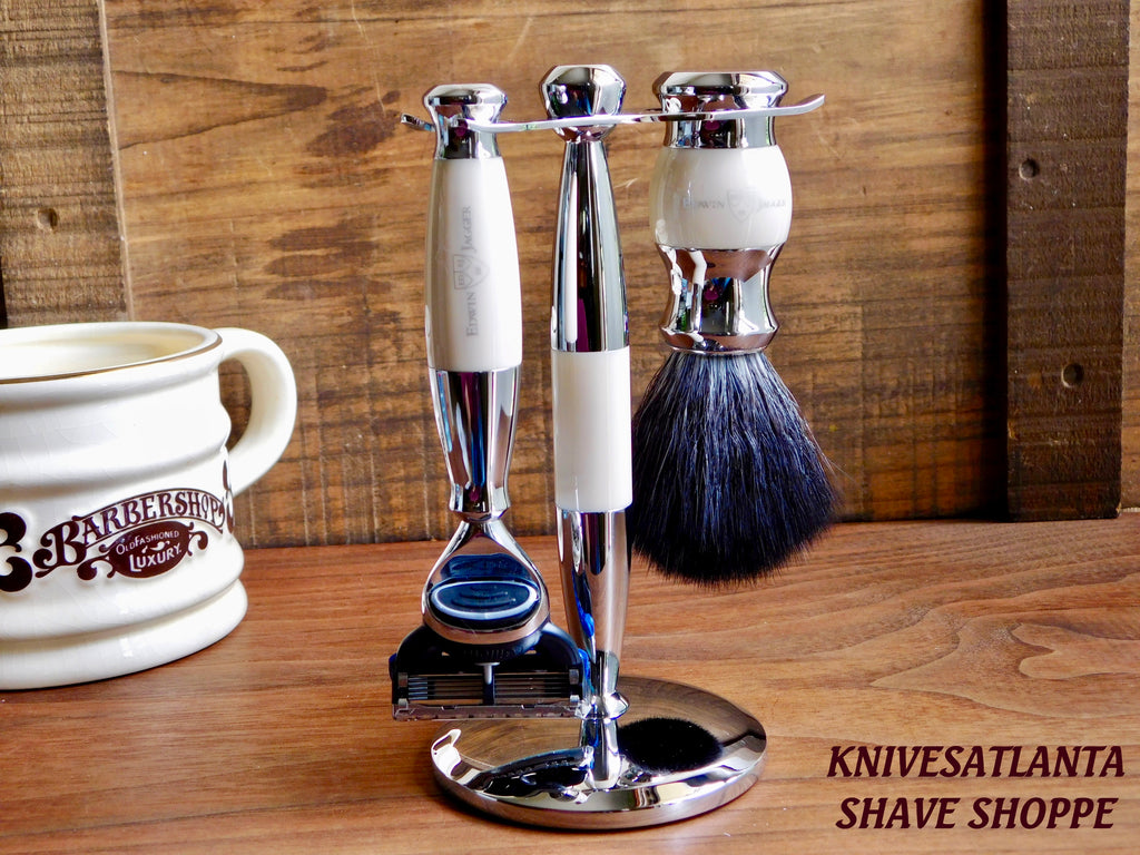 Edwin Jagger 36 Diffusion Set  With Black Synthetic Fibre Shaving Brush