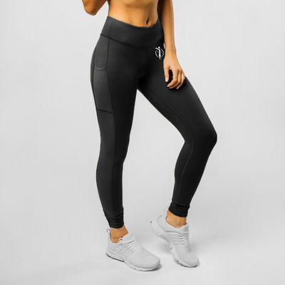 Side Mesh Legging - Black