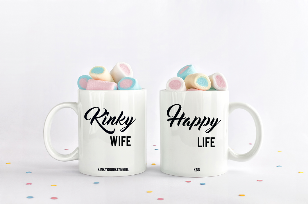 Kinky Wife Happy Life Coffee Mug Set