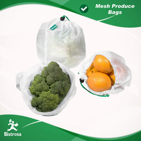 Reusable Silicone Food Bags With Mesh Produce Bags