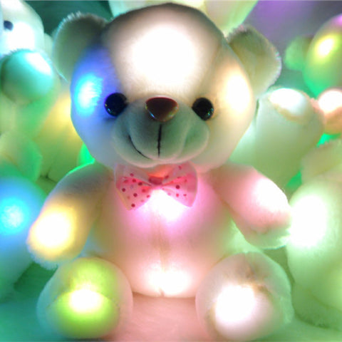 LED Colorful  Teddy Bear Stuffed Toy