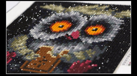 Do-IT-Yourself Diamond Owl Embroidery