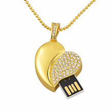 Heart Shaped Necklace USB 2.0 Flash Drive