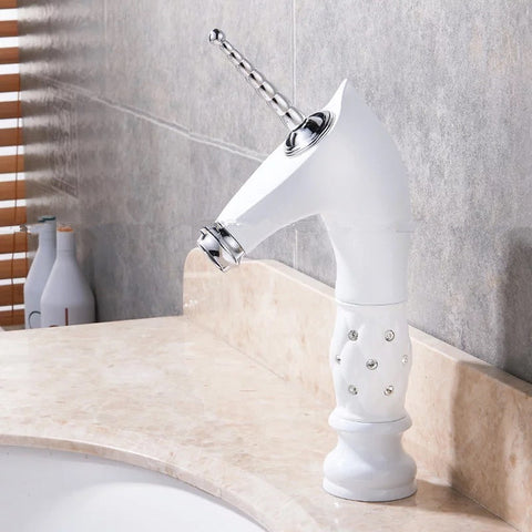 Unique Unicorn Golden Silver Black White Basin Faucet