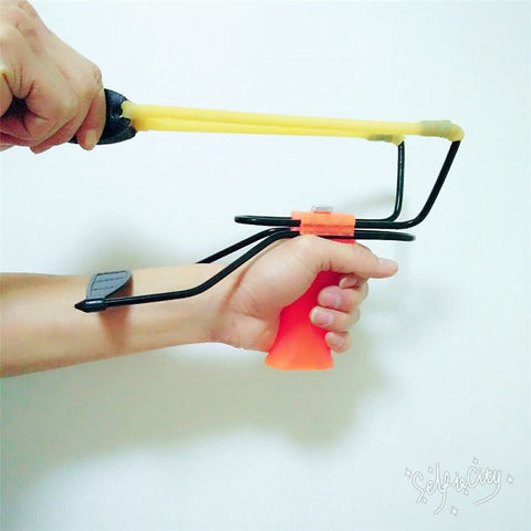 Wrist-Based Slingshot for Huntsman