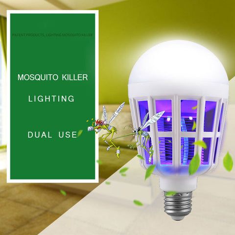 LED Bulb Anti-Mosquito Insect Zapper Light Lamp
