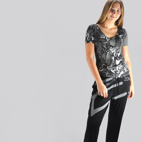 Zoku Women Bamboo Tribal Z Black Set