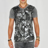 Zoku Grey Bamboo Tribal Print T-shirt