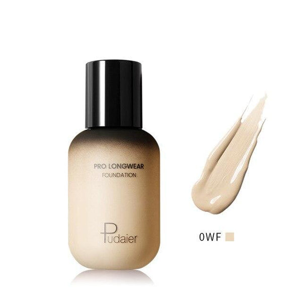 PINkart-USA 0WF Pudaier 40Ml Pro Longwear Face & Body Foundation Spf 30 Sheer Coverage Hydrating Liquid Face