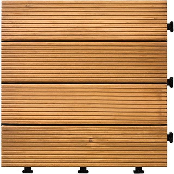 PINkart-USA 1 1Pc Interlocking Flooring Tiles In Solid Teak Wood Suitable For Indoor And Outdoor Applications