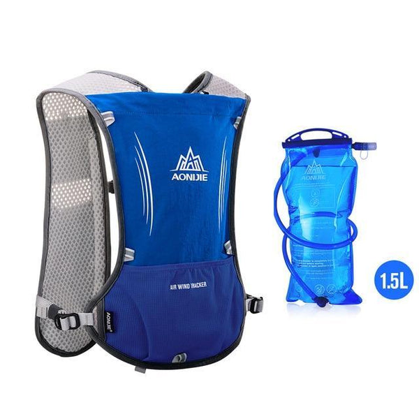PINkart-USA 1.5L  Blue Women Men Lightweight Running Backpack Outdoor Sports Trail Racing Marathon Hiking Fitness Bag