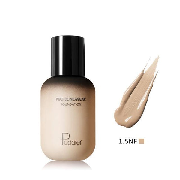PINkart-USA 1.5NF Pudaier 40Ml Pro Longwear Face & Body Foundation Spf 30 Sheer Coverage Hydrating Liquid Face