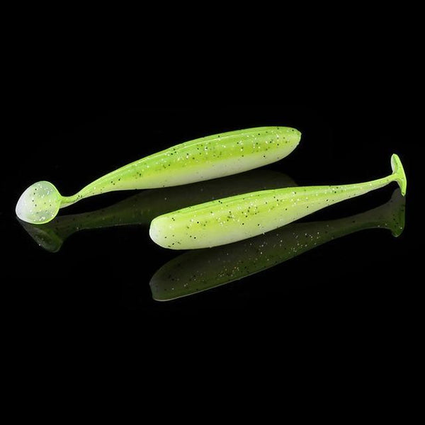 PINkart-USA 1 / 7cm 6Pcs/Lot 7Cm/9Cm Wobblers Fishing Lures Easy Shiner Swimbait Silicone Soft Bait Double Color Carp