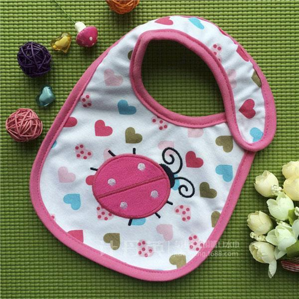 PINkart-USA 1 Baby Cotton Waterproof Bibs Lovely Butterfly Burp Cloth For Girls Sweet Birds Saliva Towels