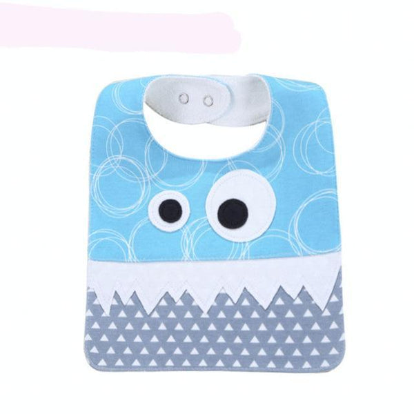 PINkart-USA 1 Big Eye Monster With Cute Teeth Design Baby Bibs Soft Infant Saliva Towel Toddler Absorbent Bandana