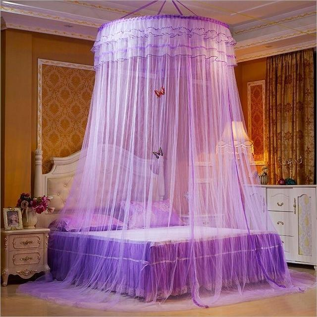 PINkart-USA 1 Design Hung Dome Mosquito Net Princess Insect Bed Canopy Netting Lace Round Mosquito Nets With