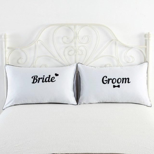 PINkart-USA 1 Newly-Married Couple Lovers Pillowcase Wedding Bedding Plillow Cover King/Queen Wedding Bed