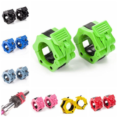 "PINkart-USA 1 Pair 1"" 2"" Barbell Collars Standard Olympic Spinlock Clamps Dumbbel Spring Clips Lock Jaw Quick Release Gym Fitness Support"