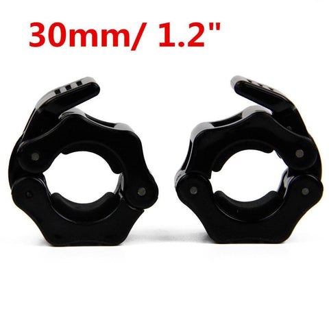PINkart-USA 1 Pair 30mm Olympic Barbell spring Collar Bar Spring Collar Clips Dumbbell Clamp Spinlocks Gym Fitness Crossfit Black L00394-C