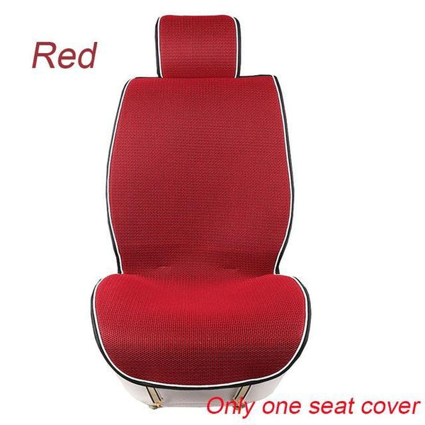 PINkart-USA 1 pc Red 1 Pc Breathable Mesh Car Seat Covers Pad Fit For Most Cars /Summer Cool Seats Cushion Luxurious