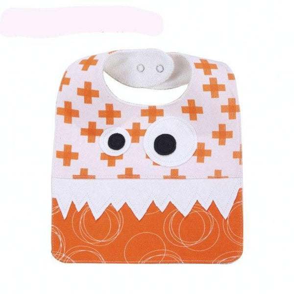 PINkart-USA 10 Big Eye Monster With Cute Teeth Design Baby Bibs Soft Infant Saliva Towel Toddler Absorbent Bandana
