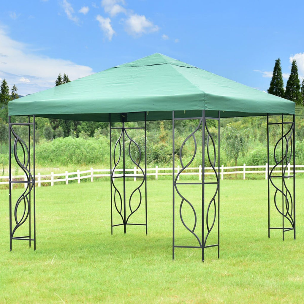 PINkart-USA 10' X10' Gazebo Canopy Shelter Patio Wedding Party Tent Outdoor Garden Awning Portable Green Canopy