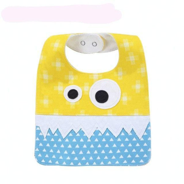 PINkart-USA 11 Big Eye Monster With Cute Teeth Design Baby Bibs Soft Infant Saliva Towel Toddler Absorbent Bandana
