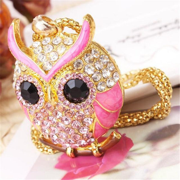 PINkart-USA 11 Lnrrabc Women Sweater Chain Necklace Owl Design Rhinestones Crystal Pendant Necklaces Jewelry