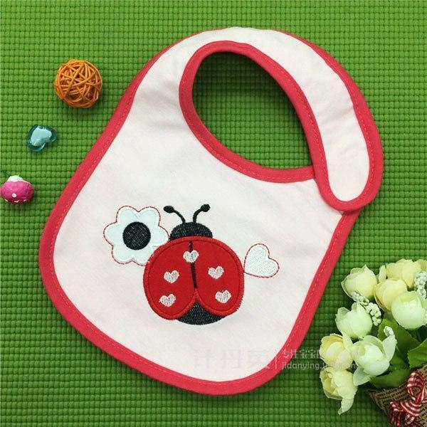 PINkart-USA 12 Baby Cotton Waterproof Bibs Lovely Butterfly Burp Cloth For Girls Sweet Birds Saliva Towels