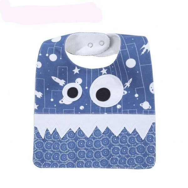 PINkart-USA 12 Big Eye Monster With Cute Teeth Design Baby Bibs Soft Infant Saliva Towel Toddler Absorbent Bandana