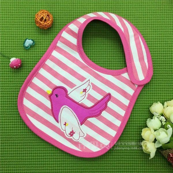 PINkart-USA 13 Baby Cotton Waterproof Bibs Lovely Butterfly Burp Cloth For Girls Sweet Birds Saliva Towels