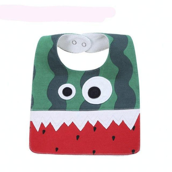 PINkart-USA 14 Big Eye Monster With Cute Teeth Design Baby Bibs Soft Infant Saliva Towel Toddler Absorbent Bandana