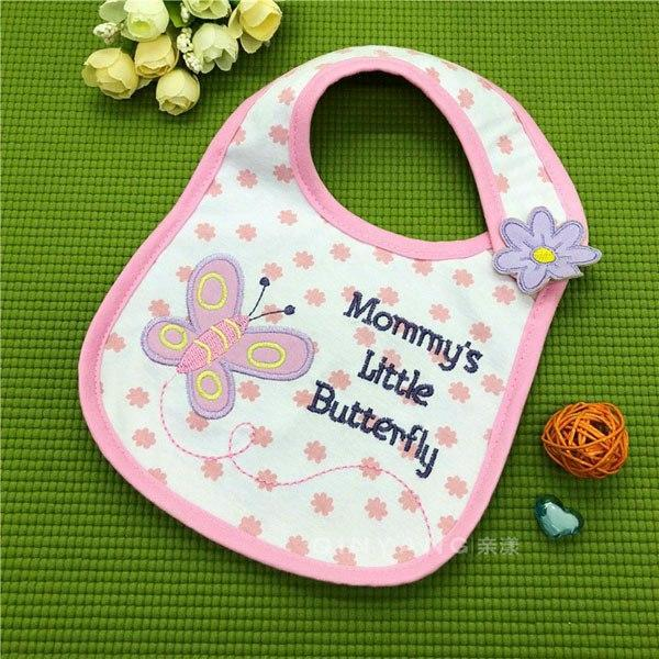 PINkart-USA 15 Baby Cotton Waterproof Bibs Lovely Butterfly Burp Cloth For Girls Sweet Birds Saliva Towels