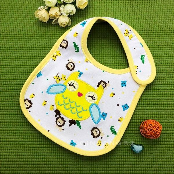 PINkart-USA 16 Baby Cotton Waterproof Bibs Lovely Butterfly Burp Cloth For Girls Sweet Birds Saliva Towels