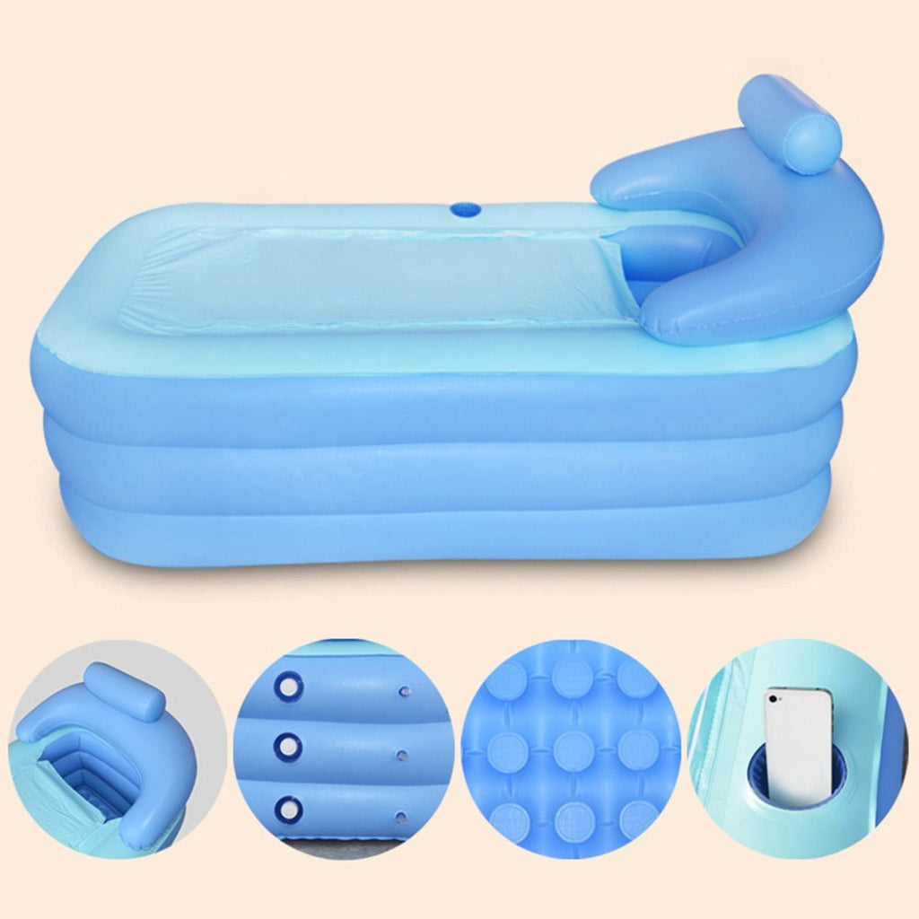 PINkart-USA 160*84*64Cm Big Size Indoor Outdoor Foldable Inflatable Bath Tub Pvc Adult Bathtub With Air Pump