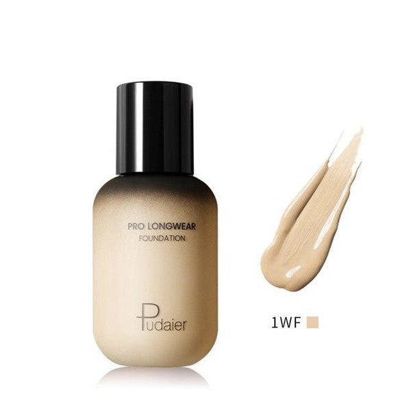 PINkart-USA 1WF Pudaier 40Ml Pro Longwear Face & Body Foundation Spf 30 Sheer Coverage Hydrating Liquid Face