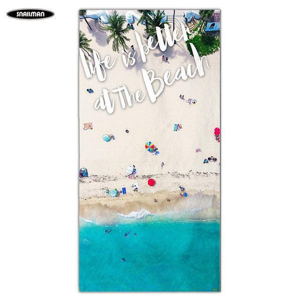 PINkart-USA 2 / 160x80cm Compact Portable Beach Towel Boat Washcloth Yoga Towel Swimwear Shower Pool Microfiber Bath
