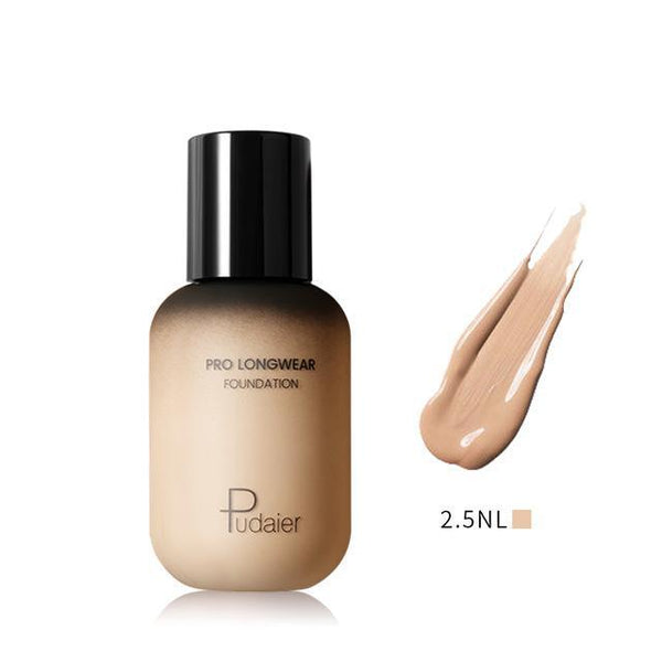 PINkart-USA 2.5NL Pudaier 40Ml Pro Longwear Face & Body Foundation Spf 30 Sheer Coverage Hydrating Liquid Face