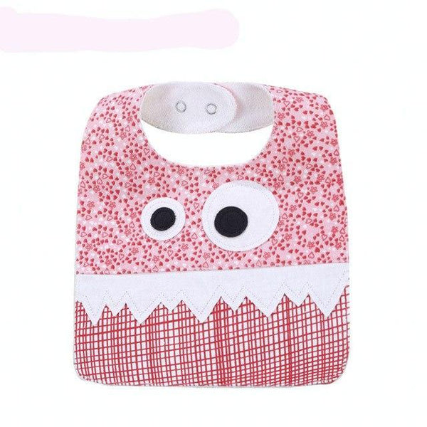 PINkart-USA 2 Big Eye Monster With Cute Teeth Design Baby Bibs Soft Infant Saliva Towel Toddler Absorbent Bandana